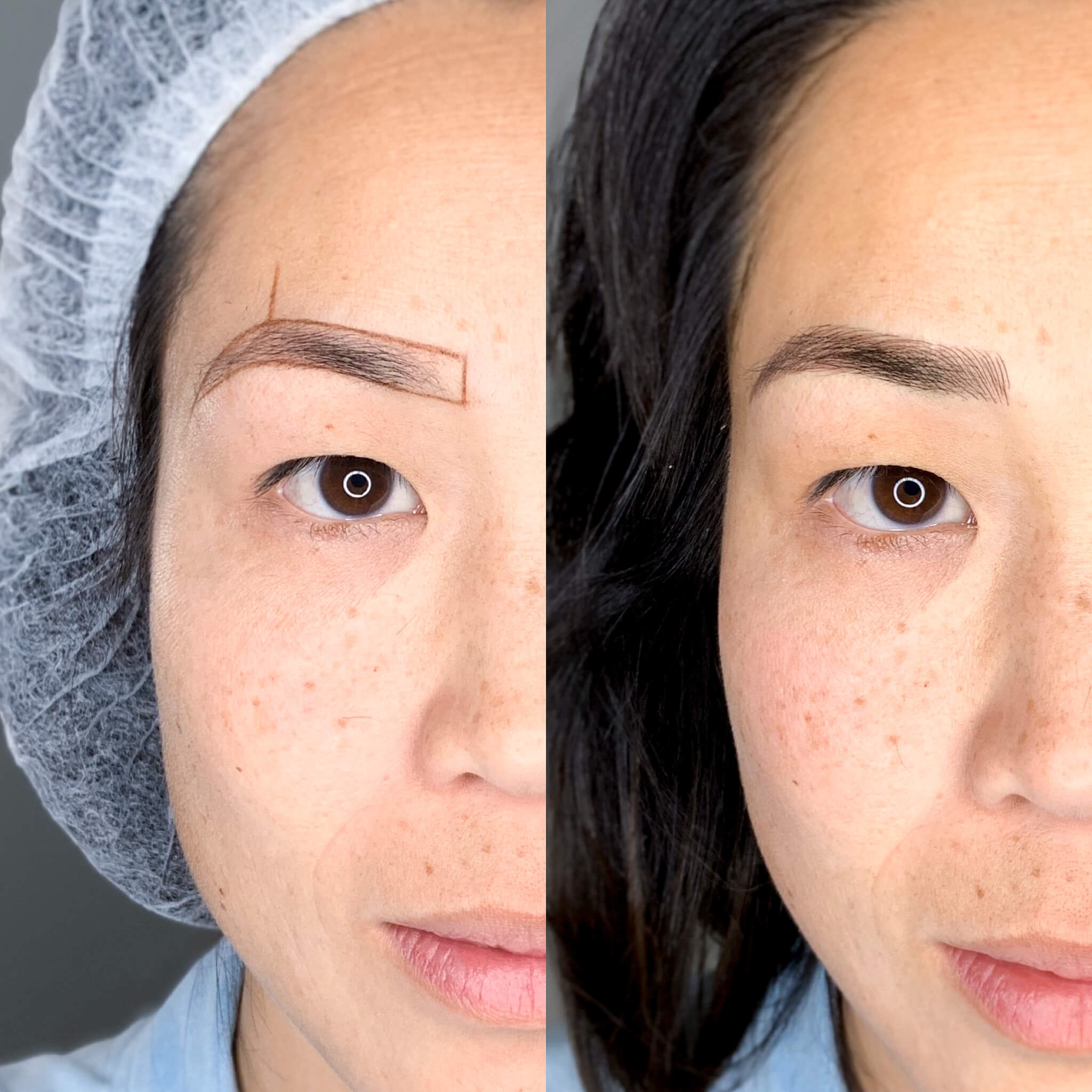 Eyewonderlust Expectations of Eyebrow Feathering Blog - Comparing Eyebrows Before and After Eyebrow Feathering, Microblading and Prices