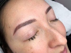 Eyewonderlust Melbourne Eyebrow Tattoo- Eyebrow Tattoo Reviews Woman with Tattooed Combination Eyebrows Scaled